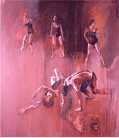 oil painting of dancers