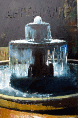 oil painting of fountain Versailles